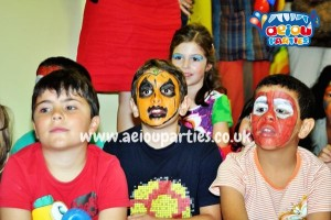 Pumpking Face Painting for kids